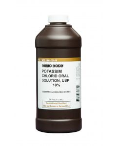 06-93-1361 Demo Dose® Potassim Chlorid Oral Solution 10% - 473 mL Pint