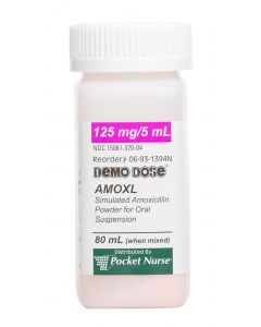 06-93-1394 Demo Dose® Amoxicilln Amoxl 125mg 5mL Suspension 80mL