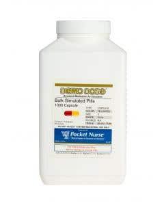 06-93-1718 Demo Dose® Capsule YellowithRed Medium Oval- 1000 Pills/Jar