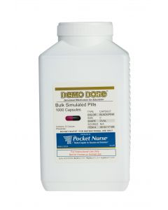 06-93-1719 Demo Dose® Capsule Black/Pink Medium Oval- 1000 Pills/Jar