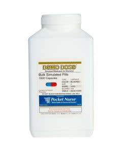 06-93-1720 Demo Dose® Capsule Blue/Red Medium Oval- 1000 Pills/Jar