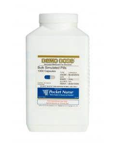06-93-1722 Demo Dose® Capsule Blue/White Medium Oval- 1000 Pills/Jar