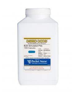 06-93-1723 Demo Dose® Capsule Blue/Blue Medium Oval- 1000 Pills/Jar