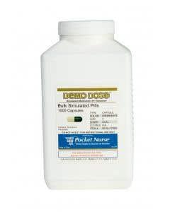 06-93-1729 Demo Dose® Capsule Green/White Medium Oval- 1000 Pills/Jar
