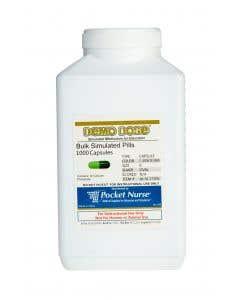 06-93-1730 Demo Dose® Capsule Lt Green/Dk Green Medium Oval- 1000 Pills/Jar