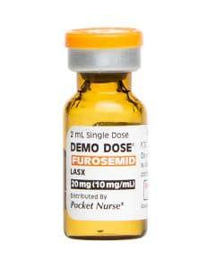 06-93-3010P Demo Dose® Furosemid Lasx 10 mg/mL 2 mL
