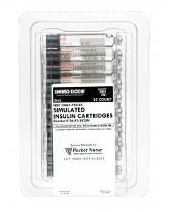 06-93-3825 Demo Dose® Simulated Insulin Cartridges 3 mL