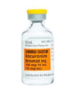 06-93-8103 Demo Dose® Rocuronim Bromid (Zemurn) 10 mL 100 mg/10 mL