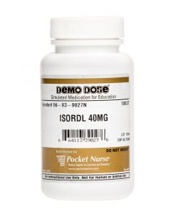 06-93-9027 Demo Dose® Isosorbid Dinitrat (Isordl) 40 mg - 100/Bottle