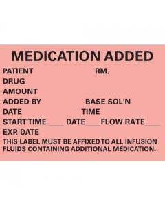 06-PK-200 Medication Added Label - 10/Pack