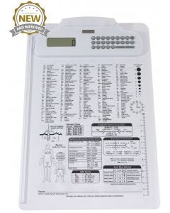 09-31-5511 Nursing/Medical Calculator Clipboard Imprinted - White