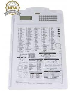 09-31-5511 Nursing/Medical Calculator Clipboard Imprinted - White