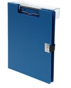 09-31-5603-BLU Poly Covered Overbed Style Clipboard