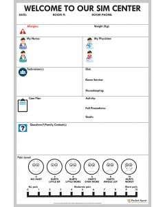 09-31-823 Pocket Nurse® Simulation Communication Whiteboard