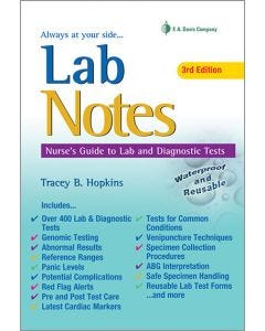 09-83-2657 Lab Notes: Nurse's Guide to Lab and Diagnostic Tests 3rd Edition