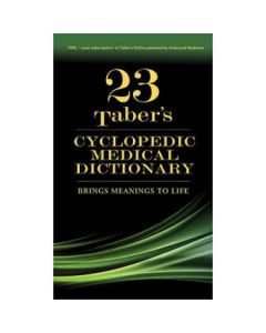 09-83-9049 Taber's Cyclopedic Medical Dictionary - 23rd Edition