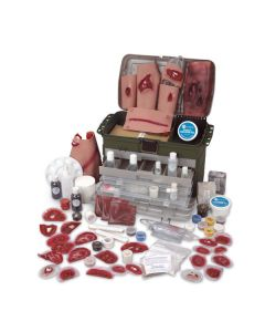 14-17-890 Simulaids Deluxe Casualty Moulage Simulation Kit