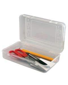 01-77-0092 Innovative Storage Designs Pencil Box Clear Plastic 8 1/2 x 5 1/2 Inch