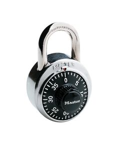 Master Lock® Combination Padlock 3 Digit Dialing - Black/Chrome