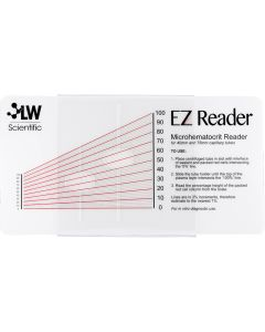 EZ Reader Microhematocrit Card