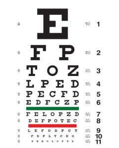 Pocket Nurse® Snellen Eye Chart