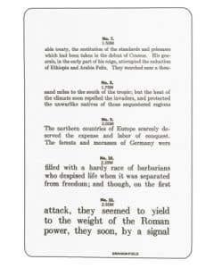 Graham Field Jaeger Reading/Test Eye Chart