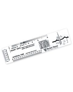 02-43-211-CLR Pocket Nurse® ECG Ruler
