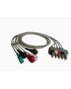 ECG Cable 5 Wire AHA Clip
