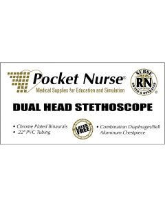 02-80-1108 Pocket Nurse® Dual-Head Stethoscope, Black