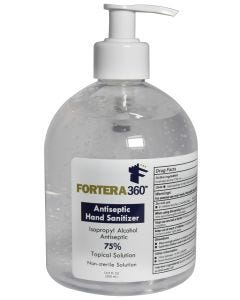 Fortera360 Hand Sanitizer Gel 75% Alcohol 16.9 oz. Pump Bottle