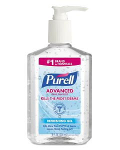 PURELL® Advanced Hand Sanitizer Gel, 8 oz table top bottle