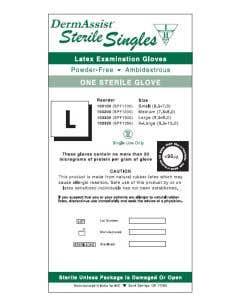 Innovative Healthcare Latex Exam Gloves Singles, Sterile