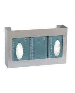 Triple Glove Box Holder Stainless Steel