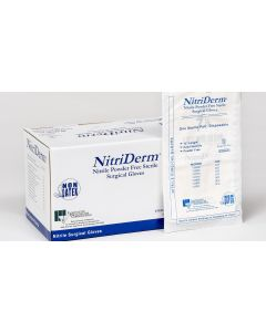 03-47-5200 NitriDerm® Nitrile Surgical Gloves | Backordered item due to Covid-19.  ETA TBD