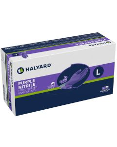 03-47-5508 Halyard Purple Nitrile Exam Gloves, Large