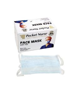 Pocket Nurse® Face Masks with Ties  | Backordered item due to Covid-19.  ETA TBD