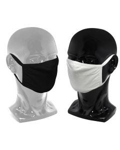 03-75-1103 Cloth Face Mask with Earloop, 2 Layers, Black