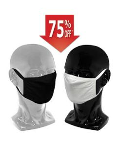 Cloth Face Mask with Earloop, 2 Layers, Black