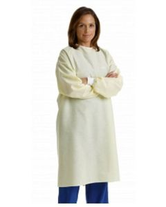 Isolation Gown Yellow Latex Free Unisex Reusable  | Backordered item due to Covid-19.  ETA TBD