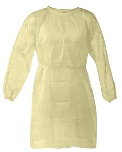 03-75-4185 Isolation Gown Fluid Resistant Yellow, Disposable