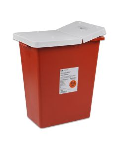 03-78-1018 18 Gallon Sharp Safety™ Sharps Container with Hinged Lid
