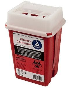 Dynarex Sharps Container, 1 qt., Red