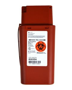 03-78-8303 SharpSafety™ Transportable Sharps Container - 1 Quart