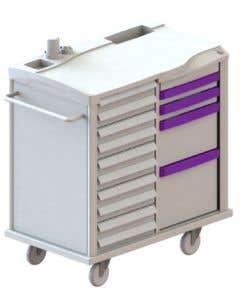 04-25-2222 Medication Cart 30 Bin 4 Drawer