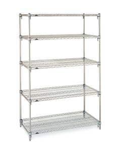 04-25-2570 Five-Shelf Chrome Manikin Storage Cart, Cover Not Included