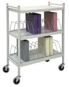 04-25-2602 Two-Shelf Open Chart Rack, Light Gray