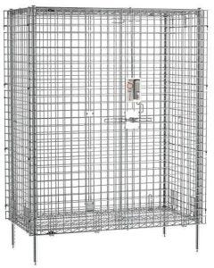 Metro qwikSLOT Security Shelving Unit, Chrome, with PIN Lock