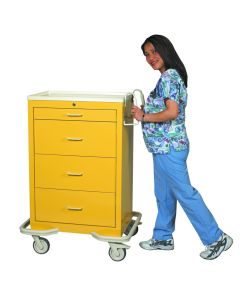 Isolation Cart, 4 Drawer-Yellow