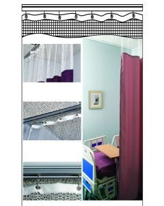 04-37-CURTAIN Custom Cubicle Track Curtains