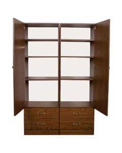04-50-0222-MEDOAK Graham-Field Double Door Storage Cabinet